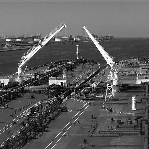 Two Tanker ships side by side at a port in South Africa